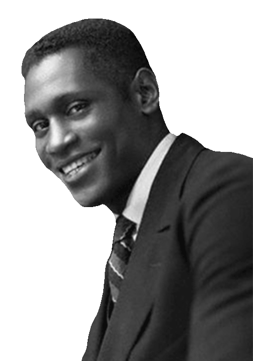 Paul Robeson black and white portrait
